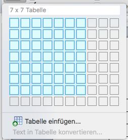 Tabelle erstellen mit Word